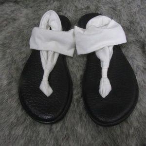 Sanuk Yoga Sling Fabric Sandals Size 10